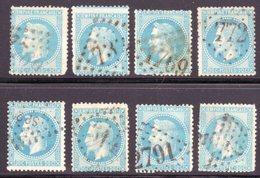 Empire Lauré / Lot N° 29 Pour Oblitérations Dont SP2 - 1863-1870 Napoléon III Lauré