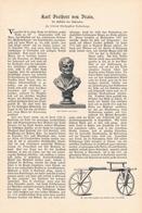 206 Drais Erfinder Des Fahrrades 1 Artikel Mit 3 Bildern Von 1902 !! - Historische Dokumente