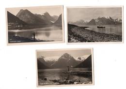NORVEGE --Balholmen ,Lyngen ,Fjaerland (2), Svartisen ,Narofjorden. (Lot De 6 Cartes ) - Norvège
