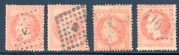 Empire Lauré / LOT N° 31 Dont Oblitération ANCRE - 1863-1870 Napoleon III With Laurels
