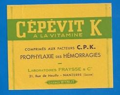 BUVARD - COMPRIMÉS CÉPÉVIT K - LAB. FRAYSSE - PRODUIT PHARMACEUTIQUE - - Chemist's