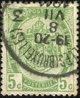 "COB   83  (o) Oblitération ""Ixelles (Bruxelles) 3"" - 1893-1907 Armoiries"
