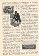 208 Berliner Elektrische Straßenbahn 1 Artikel Mit 6 Bildern Von 1906 !! - Railway