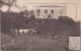 LAROQUE : ( ENVIRON ) . LE CHATEAU DE MONBALEN . ( Vue Du Levant ) . - Laroque Timbault