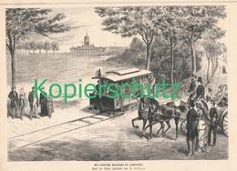 209 1. Elektrische Eisenbahn Der Welt 1 Artikel Mit 1 Bild Von 1881 !! - Auto & Verkehr