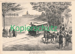 209 1. Elektrische Eisenbahn Der Welt 1 Artikel Mit 1 Bild Von 1881 !! - Railway
