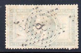 Empire Lauré / N° 33 Oblitération ETOILE 8 - 1863-1870 Napoléon III Lauré