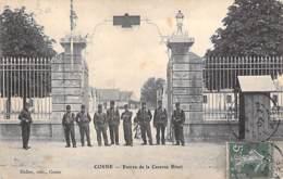 MILITARIAT - 58 - COSNE ( Sur LOIRE ) :  Entrée De La Caserne BINOT - CPA - Charente Maritime - Kasernen