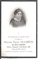 Souvenir Marie Chamois épouse De Emile Pluméon. Décédée à Haubourdin Le 26 Décembre 1929. - Religion & Esotericism
