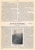 213 Technik Der Luft- Und Schwebebahnen 1 Artikel Mit 5 Bildern Von 1901 !! - Auto & Verkehr