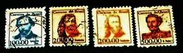 Brazil, 1965, Famous Persons.Michel # 1068,1069,1069,1070. - Célébrités