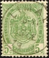 "COB   56  (o) Oblitération ""Limal"" T2L - 1893-1907 Armoiries"