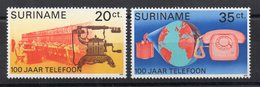 SURINAM - TELECOMMUNICATIONS - 100 ANS DE TELEPHONE - 100 YEARS OF TELEPHONE - 1976 - - Surinam