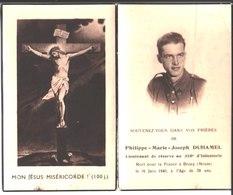 Souvenir Philippe Marie Duhamel Lieutenant De Réserve Au 310 ° D'Infanterie Décédé Le 16 Juin 1940 à Beney En Woevre - Religion & Esotericism