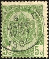 """COB   56  (o) Oblitération """"Luttre""""  T1L - 1893-1907 Armoiries"""