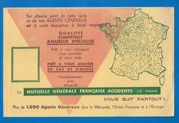 BUVARD - LA MUTUELLE GENERALE ACCIDENTS , LE MANS - ILLUSTRATION  - BANQUE - Bank & Insurance