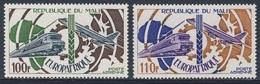 "Mali 1974 Mi 468 /9 YT A233 /4 SG 470 /1 ** Electric Train + Boeing 707 + Map ""Europafrique"" / Elektrolok, Düsenflugzeug - Mali (1959-...)"