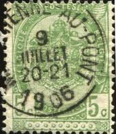 """COB   56  (o) Oblitération """"Marchienne-au-Pont"""" T1L - 1893-1907 Armoiries"""