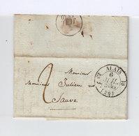 Sur Pli AC CAD Type 13 Alais 1830. Destination Sauve, Gard. Taxe Manuscrite. (1049x) - 1801-1848: Précurseurs XIX