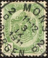 """COB   83  (o) Oblitération """"Mons-Bergen 2 D"""" T4R - 1893-1907 Armoiries"""