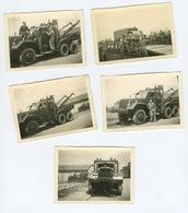 Beau Lot  De 5 Photos De Véhicule Militaire - Krieg, Militär