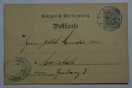 Wuerttembenrg Postkarte DP31  (Wue.8 - Wurtemberg
