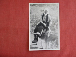 RPPC Older Female On  Horse  Ref 3135 - Europe
