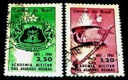 Brazil, 1960, Coat Of Arms- Military Academia, Rio.Michel # 1000-1001 - Militaria