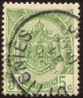 """COB   83  (o) Oblitération """"Ottignies """"T2L - 1893-1907 Armoiries"""