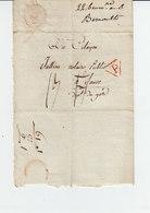 Sur Pli AC Du 22 Brumaire An 6, Soit 1797 Pour Sauve Gard, Taxe Manuscrite Et Cachet Rouge P Dans Triangle. (1050x) - Marcophilie (Lettres)