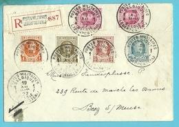 190+191+192+200+207 Op Brief Aangetekend Met Stempel POSTES MILITAIRES BELGIQUE 1A !!! - 1922-1927 Houyoux
