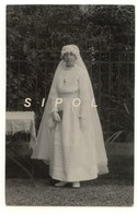 Jeune Communiante  Vers 1920 Carte Photo TBE - Religion & Esotericism