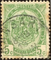 "COB   83  (o) Oblitération ""Ransart"" T2L - 1893-1907 Armoiries"