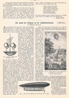 233 Henson Fliegen An Der Jahrhundertwende 1 Artikel Mit 7 Bildern Von 1899 !! - Historische Dokumente
