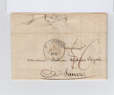Sur Pli AC CAD St Gaudens 1841 Type 12. Taxe Manuscrite. Cachet Montpellier. (1051x) - 1801-1848: Précurseurs XIX