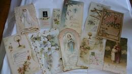 Cartes Religieuses Lot De Plus De 10 Différentes Dont Canivet Dentelles Et Celluloide - Religion & Esotericism