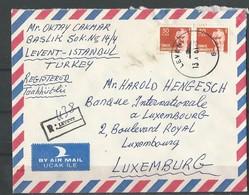 Lettre Recommandée De Turquie Pour Le Luxembourg - Marcophilie - EMA (Empreintes Machines)