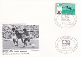 Germany Cover 1974 FIFA World Cup Football In Germany - München Bronze Poland-Brazil 1:0 (G99-2) - Fußball-Weltmeisterschaft
