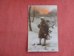 RPPC Young Girl  Vroolijk Kerstieest    Ref 3135 - Fashion