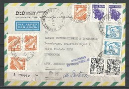 Lettre Recommandée Du Brésil Pour Le Luxembourg - Marcophilie - EMA (Empreintes Machines)