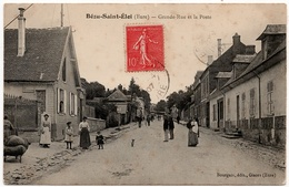 Bézu Saint Eloi : Grande Rue Et Poste (Editeur Bourgeix, Gisors) - France
