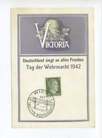 1942 3. Reich Seltene Mehrfarbige Gedenkkarte Victoria Deutschland Siegt An Allen Fronten Tag Der Wehrmacht 1942 - Deutschland