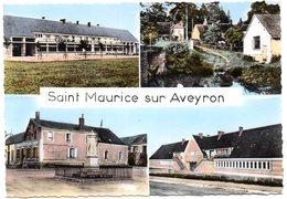 LOIRET - Dépt N° 45 = St MAURICE Sur AVEYRON 1962 = CPSM Edition ARTISTIC = LE GROUPE SCOLAIRE + HOTEL - France