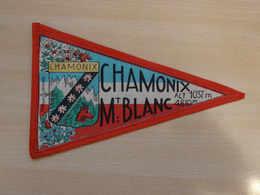 Fanion Touristique France CHAMONIX - MONT BLANC (vintage Années 60) - (Vaantje - Wimpel - Pennant - Banderin) - Obj. 'Souvenir De'