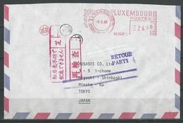 Lettre  De Luxembourg Vers Le Japon (Retour- Parti) - Marcophilie - EMA (Empreintes Machines)
