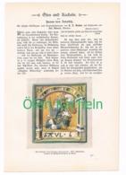 241 Zobeltitz Öfen Und Kacheln Artikel Mit Bildern Von 1896 !! - Historische Dokumente