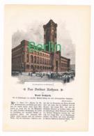 242 Buchholtz Berlin Das Berliner Rathaus Artikel Mit Bildern Von 1896 !! - Historische Dokumente
