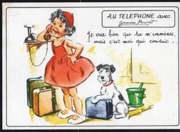Illustrateurs - Signés > Bouret, Germaine Au Téléphone Avec Germaine Bouret - Bouret, Germaine