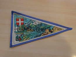 Fanion Touristique France LA MER DE GLACE - CHAMONIX   (vintage Années 60) - (Vaantje - Wimpel - Pennant - Banderin) - Recordatorios