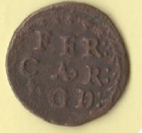 Ducato Di Mantova Un Quattrino Ferdinando Carlo Nevers - Regional Coins